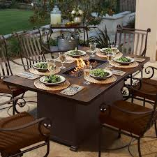 Patio Table With Firepit by Wonderful Just Arrived Dining Table With Fire Pit Welch Residence