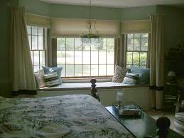 Curtains For White Bedroom Decor Remarkable Brown Bedroom Bay Window Design Idea With Cream