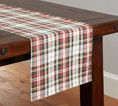 table runner denver plaid table runner pottery barn