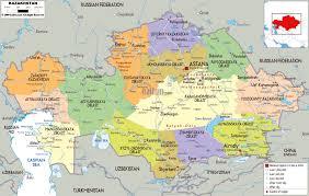 Caspian Sea World Map by Maps Of Kazakhstan Detailed Map Of Kazakhstan In English