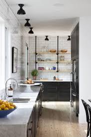 Black Galley Kitchen 19 Best Narrow Kitchen Images On Pinterest 10x10 Kitchen Black