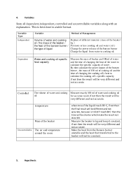 Specific Heat Table Oil And Water Specific Heat Capacity