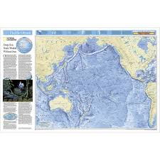 Ocean Map World by Pacific Ocean Floor Map National Geographic Store