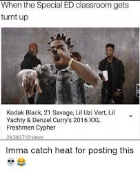 Turnt Meme - when the special ed classroom gets turnt up kodak black 21 savage