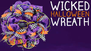 Halloween Wreath Supplies by Wicked Halloween Wreath Tutorial Youtube
