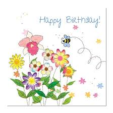 happy birthday card bee and flowers unique greeting cards online