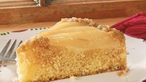 classic pear upside down cake recipe bettycrocker com