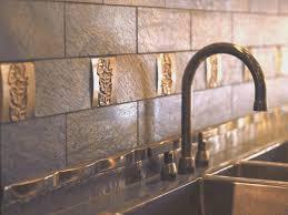 backsplash new kitchen with metal backsplash room design decor