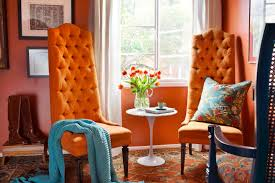 100 home interior accents fall into orange living room