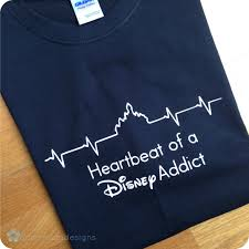 heartbeat of a disney addict t shirt castle heartbeat on storenvy