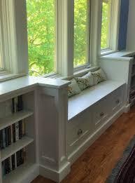 Bookshelf Seat Heritage Carpentry Company Custom Window Seat And Bookshelf