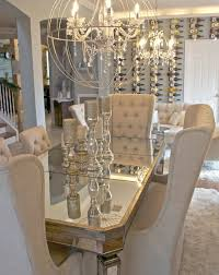 mirror dining room table glam dining room i am obsessed with the table chairs