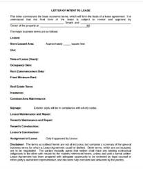 free letter of intent template samples formats 40 examples