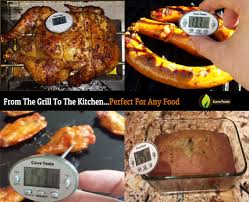 instant read digital cooking thermometer with pocket clip cave tools