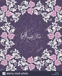 Invitation Card With Photo Vintage Invitation Card With Ornate Elegant Floral Design Pink