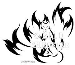 kitsune calligraphy by rhpotter on deviantart