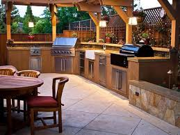 Outdoor Kitchen Backsplash Ideas Outdoor Kitchen Countertops Pictures Ideas From Hgtv Hgtv