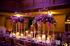 purple flower table centerpieces for wedding wedding party