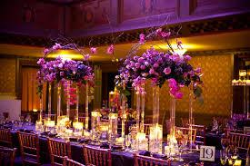 purple and orange wedding ideas purple flower table centerpieces for wedding wedding party