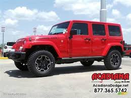 red jeep wrangler unlimited 2016 firecracker red jeep wrangler unlimited rubicon hard rock 4x4