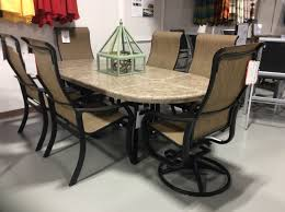 Aluminum Dining Room Chairs Dining - 7 piece villa sling aluminum dining set by telescope best fire
