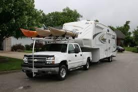 kayak rack for truck with 5th wheel boats pinterest kayak