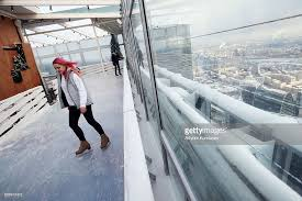 150 m to ft bmw ice rink 354 opens atop moscow city skyscraper pictures getty