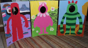 yo gabba gabba party ideas photo props