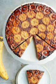 paleo banana upside down cake bakerita