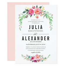 bohemian floral wedding invitation zazzle