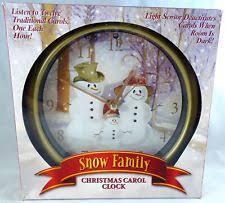 snow family carol clock plays 12 carols 8x8x1 ebay