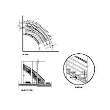 curved staircase cad drawing cadblocksfree cad blocks free