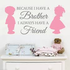 popular brothers wall decal buy cheap brothers wall decal lots 2 color brother sister love friends vinyl wall decals stickers art decor mural children