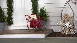 plow u0026 hearth indoor outdoor metal decorative sleigh on qvc youtube