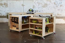 Free Wood Workbench Designs by Ana White Ultimate Roll Away Workbench System For Ryobi Blogger