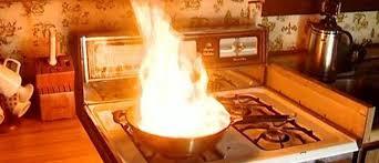 feu de cuisine cuisine quelques astuces pour éteindre le feu en cuisine
