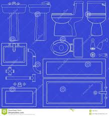 Bathroom Blueprint Bathroom Blueprint Cartoon Vector Cartoondealer Com 70750823
