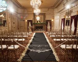 black aisle runner custom aisle runner etsy