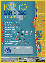 San Diego State Map by Top 10 San Diego Beaches Sandiego Beaches San Diego Things To