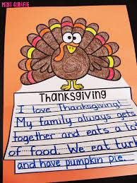 thanksgiving without turkey miss giraffe u0027s class november writing crafts