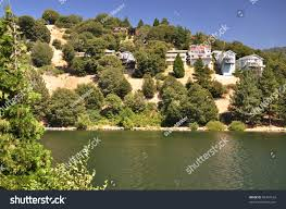 view hillside homes lake gregory southern stock photo 83494162