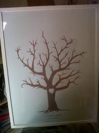 thumbprint wedding tree 5 steps with pictures