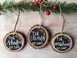 wooden ornament custom ornament family name