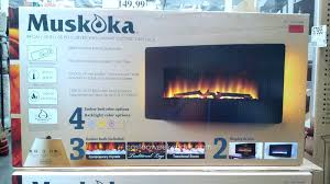 black wall mounted electric fireplace costco contemporary open