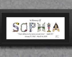personalized in memory of gifts memory of etsy