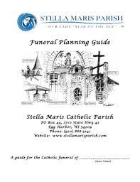 funeral planning guide funeral planning guide stella maris parish fill online
