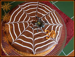 Spider Cakes For Halloween Fowl Single File Spider Web Treats