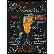 martini bar sign mimosa recipe chalkboard style sign bar decor retroplanet com