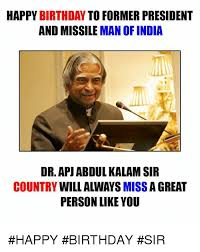 Dr Who Birthday Meme - happy birthday to former president and missile man of india dr apj