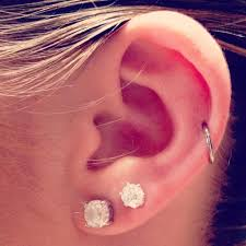 hoop cartilage piercing dual ear lobe and hoop cartilage piercing